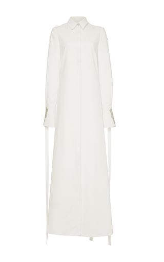 Medium adeam white cotton poplin long shirt dress