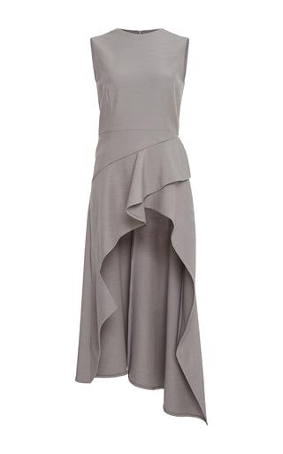 Medium adeam light grey stretch suiting cascade top