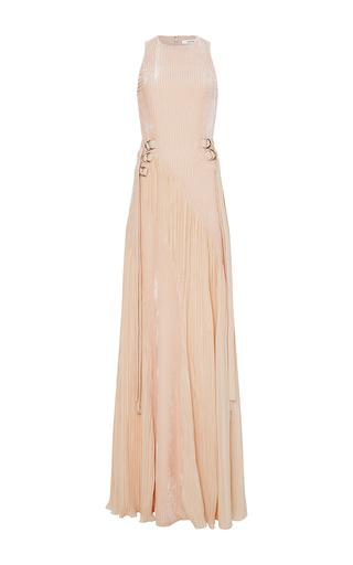 Medium adeam pink burnout velvet gown