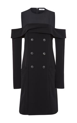 Medium adeam black twill shoulder cutout dress