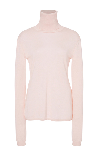 Medium adeam pink blush cashmere silk turtleneck sweater