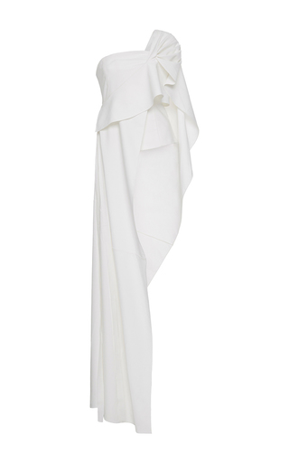 Medium adeam white cotton poplin one shoulder bustier top