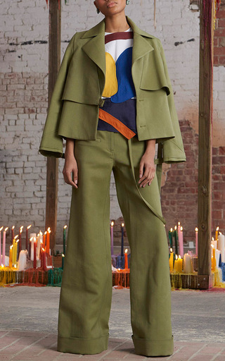 Cuffed Wide Leg Trousers by ROSIE ASSOULIN Now Available on Moda Operandi