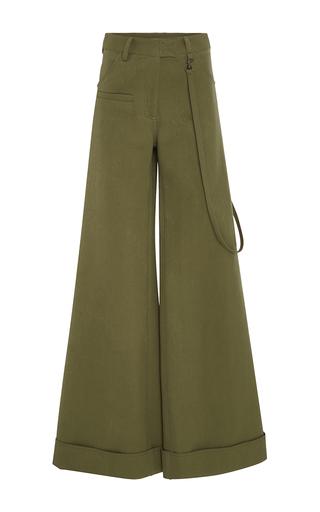 Medium rosie assoulin green army green wide legged b boy trousers