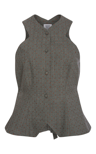 Medium rosie assoulin dark grey menswear jacquard vest