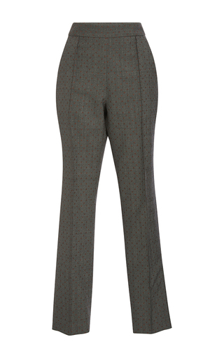 Medium rosie assoulin dark grey oboe jacquard pants