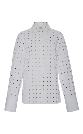 Medium rosie assoulin white lucky charms embellished shirt