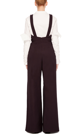 Wide Legged Overall Jumpsuit by ROSIE ASSOULIN Now Available on Moda Operandi