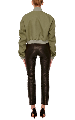 Cropped Bomber Jacket by ROSIE ASSOULIN Now Available on Moda Operandi