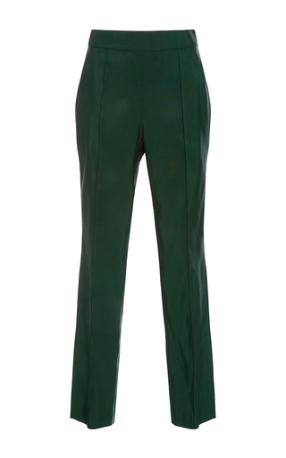 Medium rosie assoulin green silk faille oboe pant