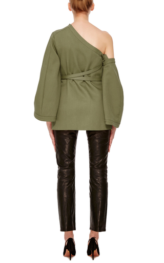 Detachable Sleeve Wrap Top by ROSIE ASSOULIN Now Available on Moda Operandi