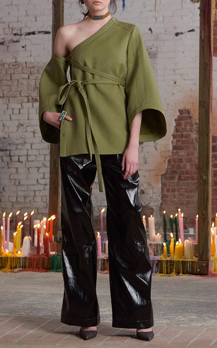 Detachable Sleeve Wrap Top by Rosie Assoulin | Moda Operandi