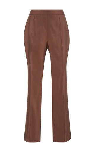 Medium rosie assoulin brown silk faille oboe pant  2