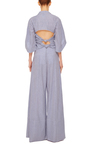 Knotty By Nature Bow Jumpsuit by ROSIE ASSOULIN Now Available on Moda Operandi