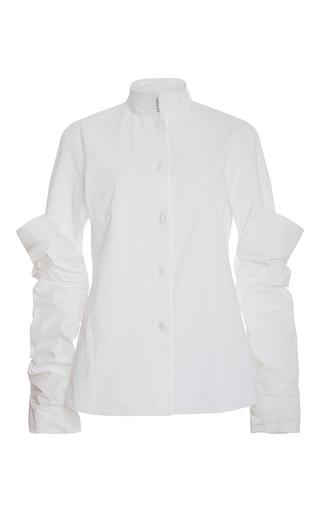 Medium rosie assoulin white stretch armstrong button down shirt