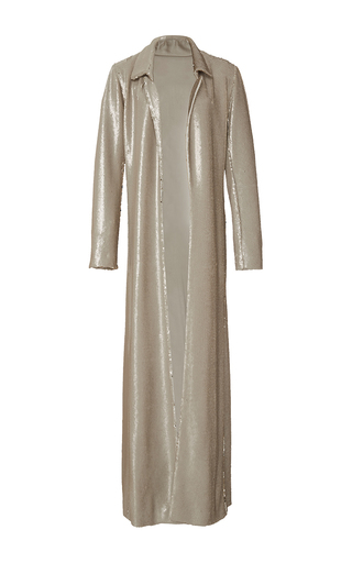 Medium rosie assoulin gold duster reversible maxi coat