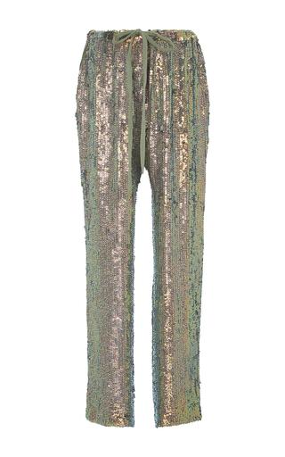 Medium rosie assoulin metallic sequined drawstring pants