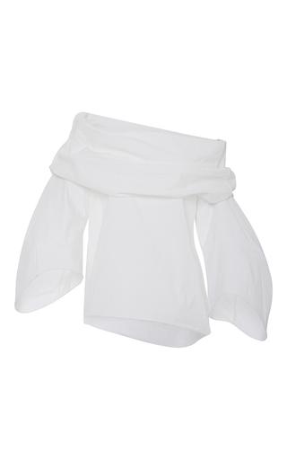 Medium rosie assoulin white cotton poplin off the shoulder top