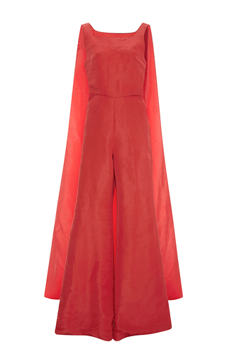 Medium rosie assoulin red superhero jumpsuit with cape