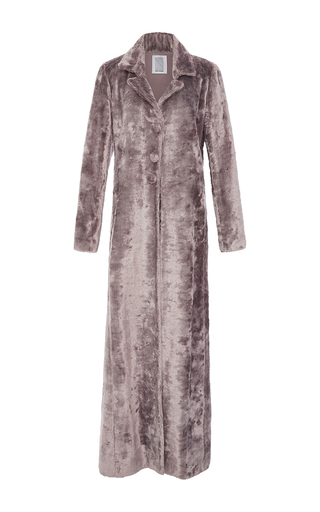 Medium rosie assoulin purple velvet duster maxi coat