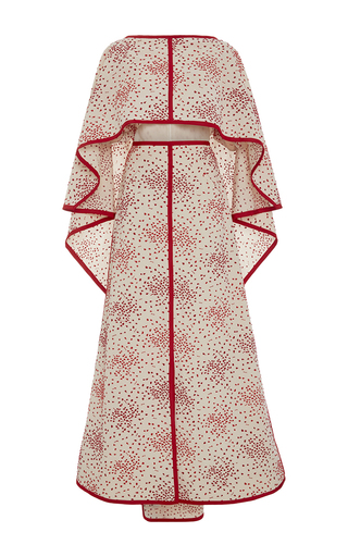 Medium rosie assoulin red off the shoulder poncho dress