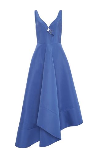 Medium rosie assoulin blue plunging neckline zorro gown