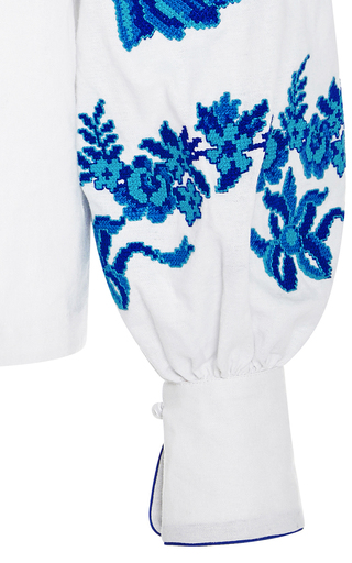 Gzhel Off The Shoulder Top by YULIYA MAGDYCH Now Available on Moda Operandi