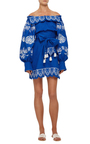 Gzhel Off The Shoulder Dress by YULIYA MAGDYCH Now Available on Moda Operandi
