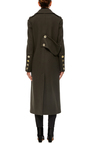 Olive Maxi Length Wool Coat by TIBI Now Available on Moda Operandi