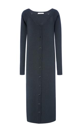 Medium tibi black v neck decollete dress
