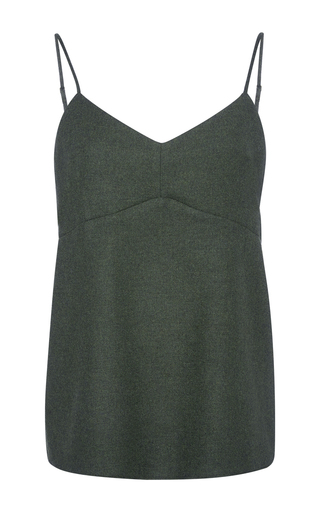 Medium tibi olive owen twill cami