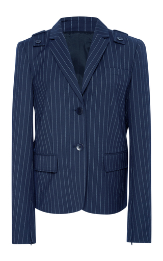 Medium tibi navy shrunken blazer