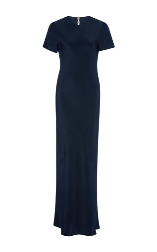 Medium tibi black black short sleeve bias dress
