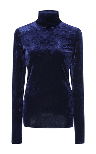 Medium tibi navy slim turtle neck