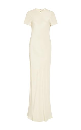 Medium tibi off white burlap short sleeve bias dress