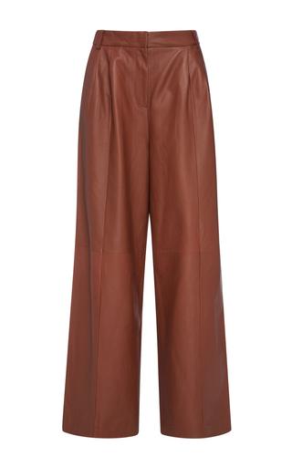 Medium tibi orange wide leg leather pant