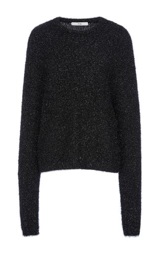 Medium tibi black easy crewneck pullover