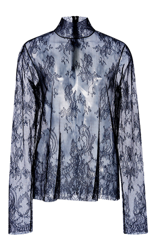 Chantilly Lace Turtle Neck by TIBI Now Available on Moda Operandi