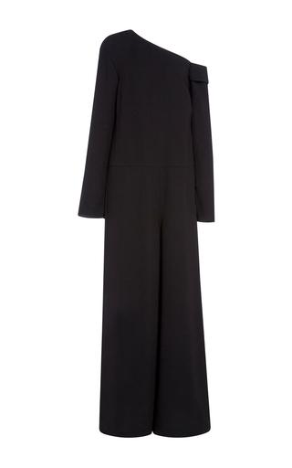 Medium tibi black asymmetrical off shoulder jumpsuit