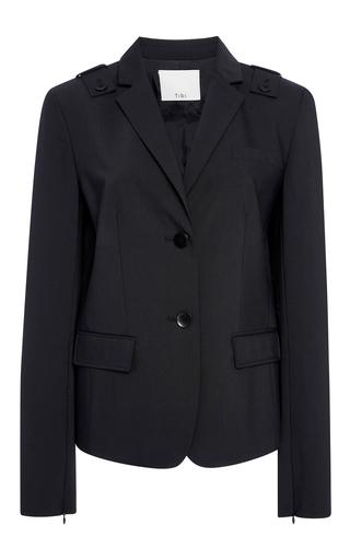 Medium tibi black shrunken wool blazer