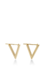 Triangle Hoop Earrings by NOOR FARES Now Available on Moda Operandi