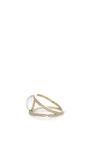 Geometry 101 White Quartz Rhombus Ring by NOOR FARES Now Available on Moda Operandi