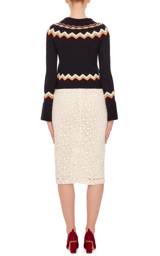 Macrame Pencil Skirt by RED VALENTINO Now Available on Moda Operandi