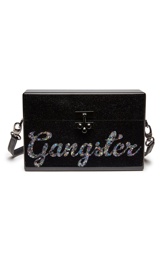 Medium edie parker black small trunk gangster clutch