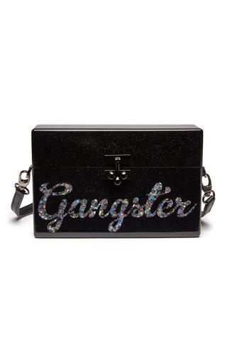 Medium edie parker black small trunk gangster clutch