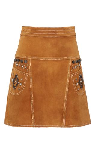 Medium coach 1941 brown stud a line suede skirt