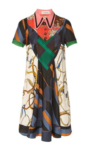 Medium coach 1941 ivory paisley foulard scarf dress