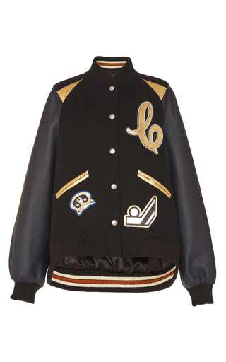 Medium coach 1941 navy metallic insert oversized varsity jacket