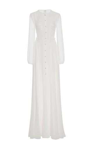 Medium carolina herrera white soft chiffon gown