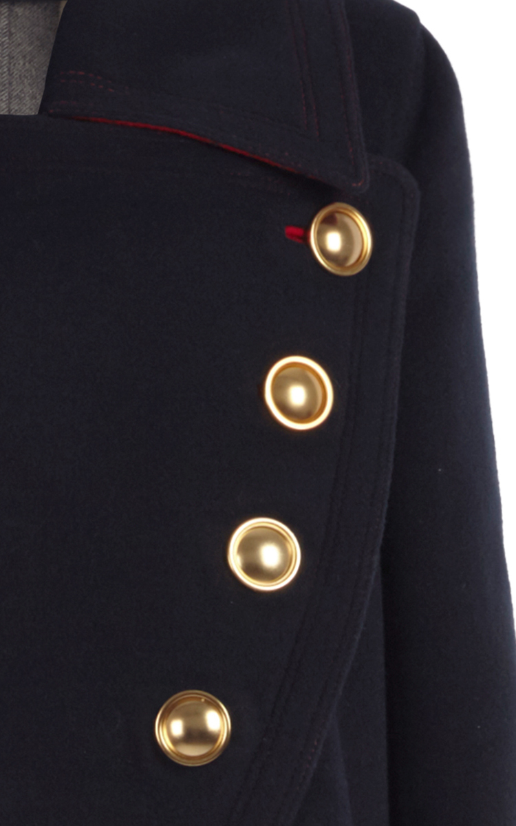 Double Faced Wool Cashmere Military Coat